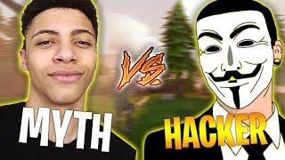 MYTH VS FORTNITE HACKER - Fortnite Battle Royale WTF & Funny Moments Episode. 128