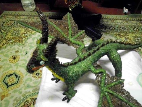 Огромный Дракон из Бисера Своими Руками ! Плетение для начинающих 2016