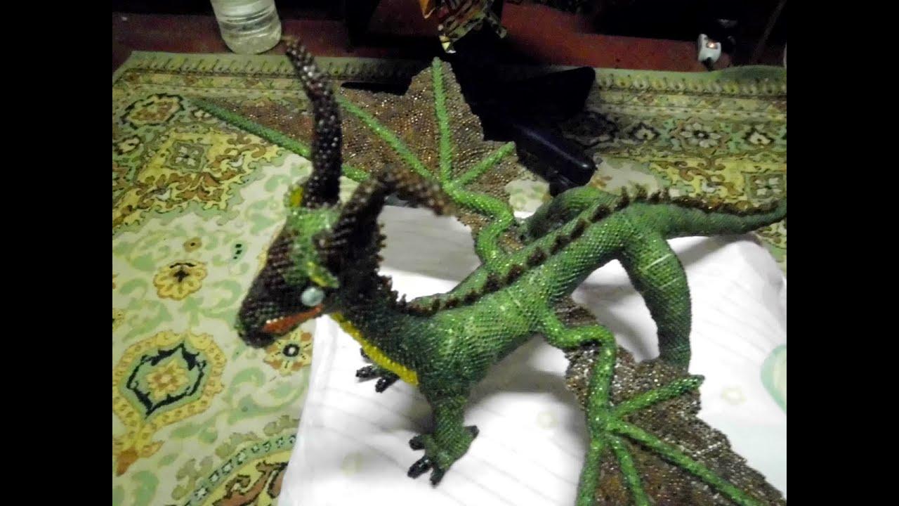схема плетения китайского дракона из бисера