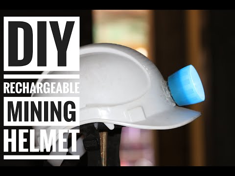 DIY Rechargeable Mining Helmet - Weekend Fun