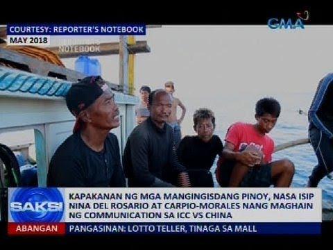 Saksi: Kapakanan ng mga mangingisdang Pinoy, nasa isip nina Del Rosario at Carpio-Morales...
