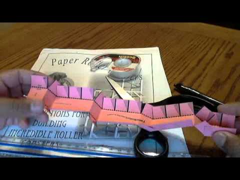 Customized writing paper on a roller coaster
