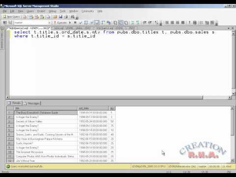 Sql Server 2008 - Joins - Inner Joins Outer Join - Right, Left , Full