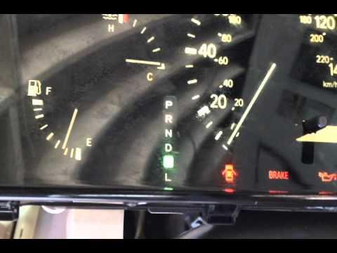 warning lights on lexus rx300 dashboard