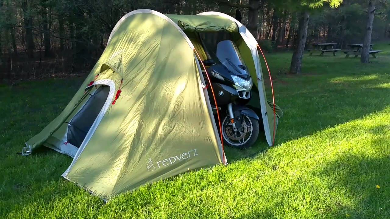 Redverz Solo Tent with Motorcycle Inside & Redverz Solo Tent with Motorcycle Inside - YouTube