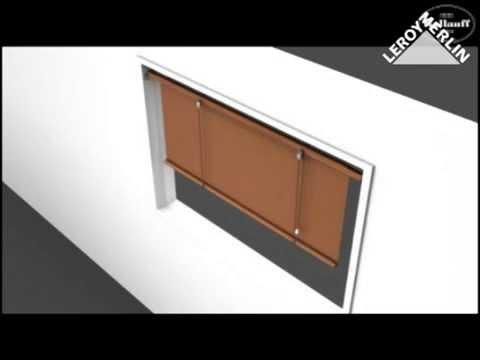 fixer le support pour store enrouleur bois tiss youtube. Black Bedroom Furniture Sets. Home Design Ideas