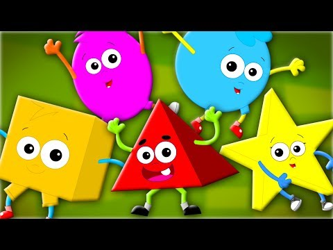 Five Little Shapes | The Shapes Song | Nursery Rhymes | Children Songs | Kids Rhymes