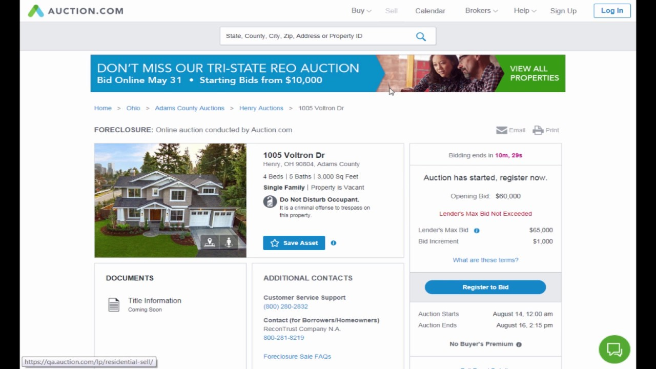 Ohio PSO Online Foreclosure Auctions How To Video