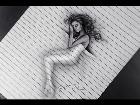 3D Drawing Illusion - Trick Art - YouTube