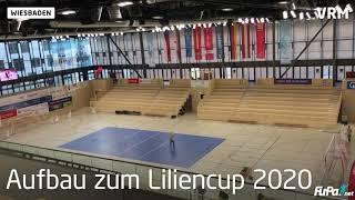 Aufbau der Bande beim Liliencup 2020