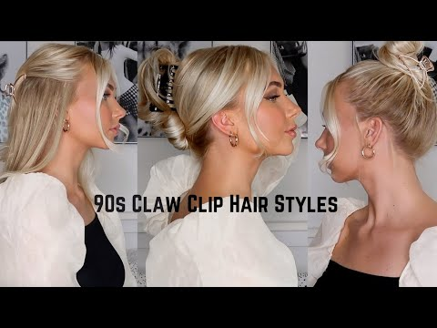 easy-claw-clip-hairstyles//-90s,-french-twist