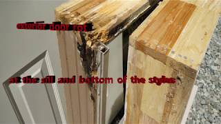 How to and Style exterior door rot at the sill and style frame