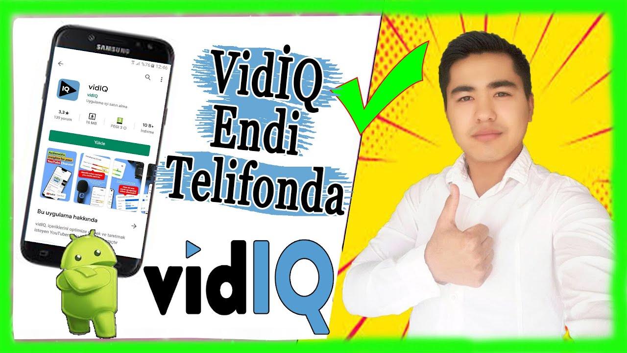 VidİQ TELİFON Versiyasi, Android Uchun VidİQ ( VidİQ SEO ) MyTub.uz