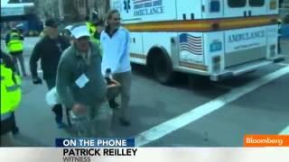 Boston Bombings Eyewitness  Chaos, People Running Everywhere   YouTube 360p]