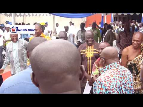 PRESIDENT AKUFO ADDO COMMISSIONS 1 DISTRICT 1 FACTORY IN KUMASI