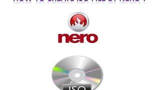 create iso image by nero
