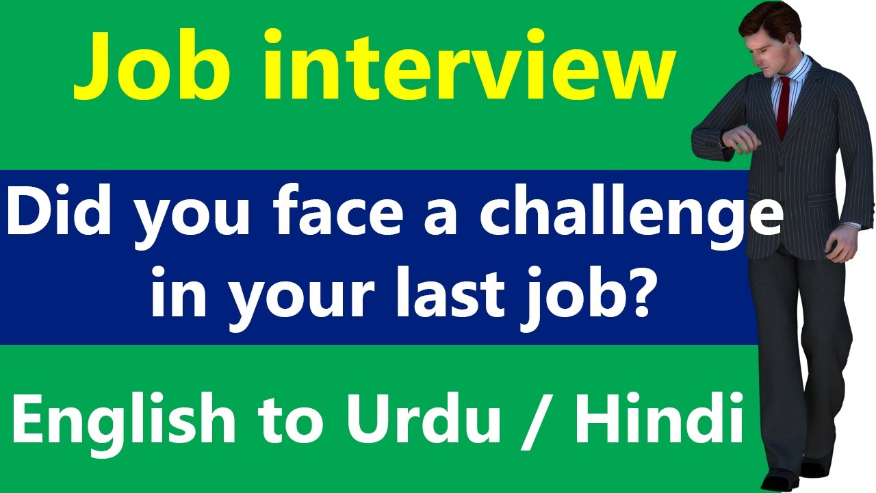how well can you handle a challenge interview question youtube