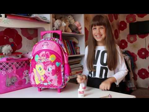 #Покупки к школе Школьный рюкзак для девочек My #littleponny #Shopping For School FOR KIDS CHILDREN