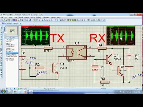Voice transmission using Light (IR Transmitter and Receiver).avi