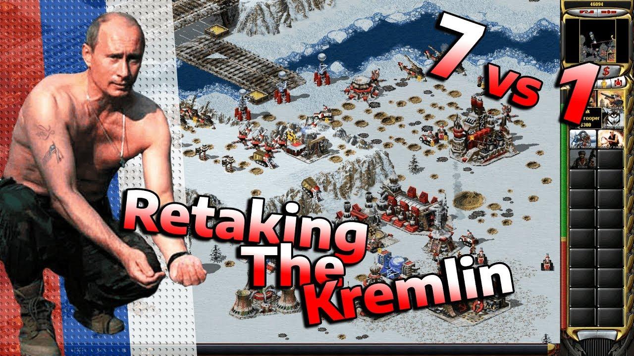 Red Alert 2 Retaking The Kremlin 7 Vs 1 Gameplay Youtube
