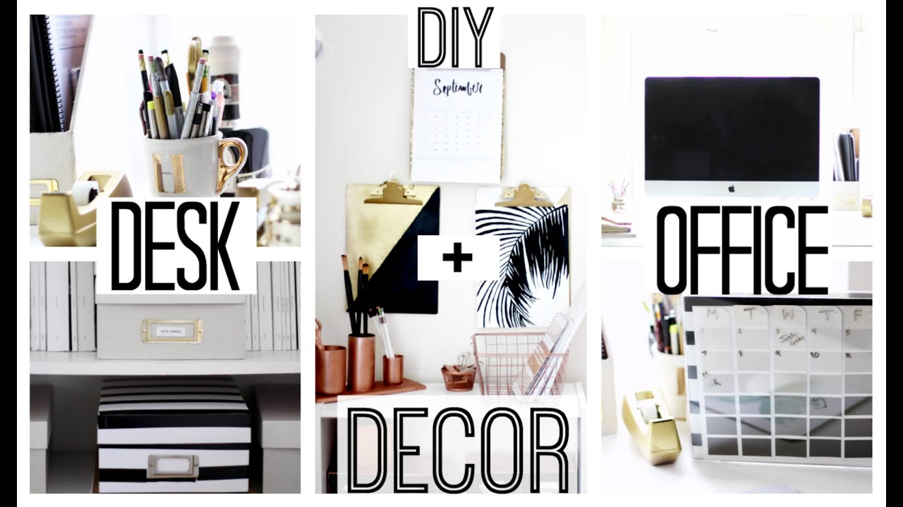 DIY Desk  Office Decor  Anthropologie Kate Spade Inspired  T