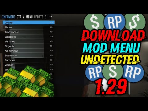 GTA 5 PC Mod Menu Online 1 29 Infamous v3 + DLL Injector (Undetected)