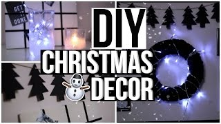 DIY CHRISTMAS ROOM DECOR 2016! DIY Tumblr Room Decor 2016!