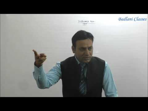 Indirect Tax : Value Added Tax : Lecture 1 : VAT