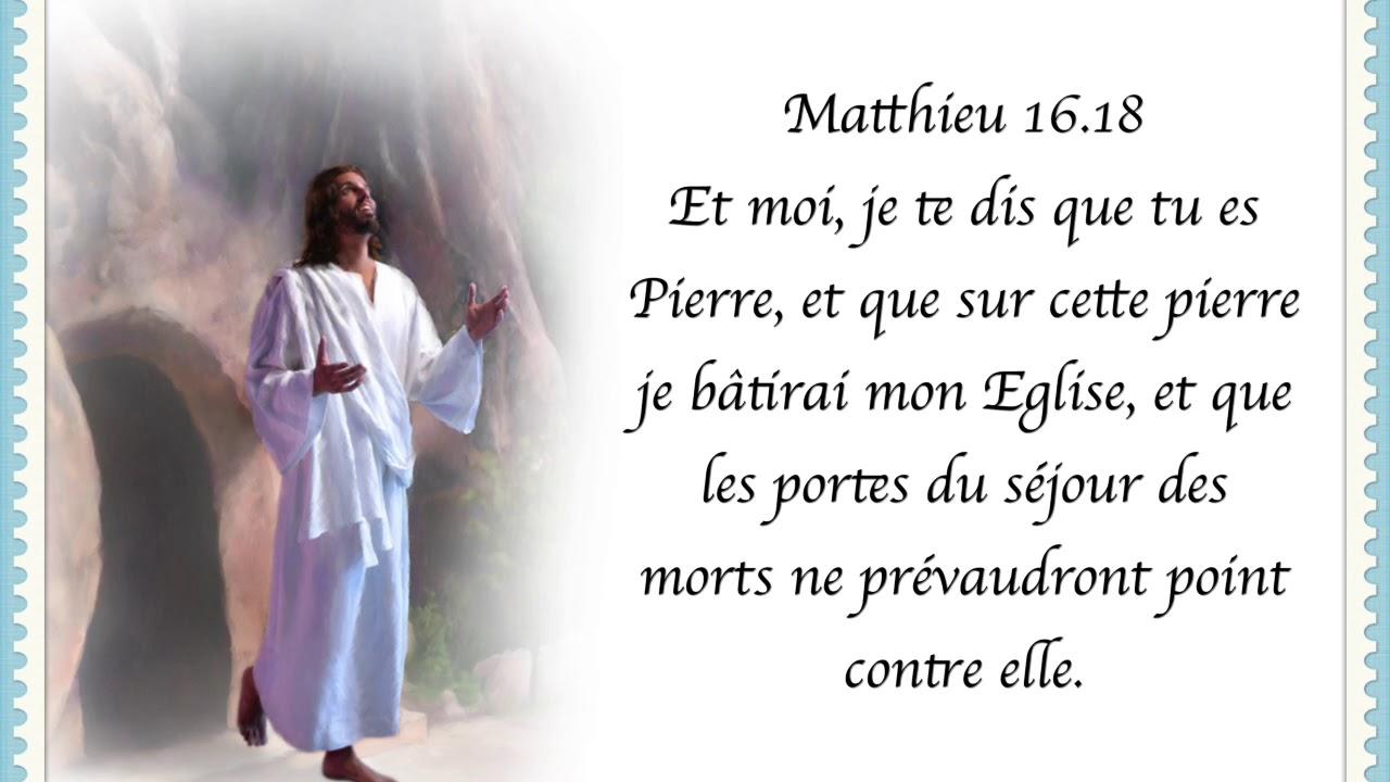 Matthieu 16 18 - YouTube