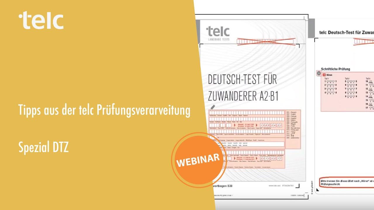 Tipps Aus Der Telc Prüfungsverarbeitung Spezial Dtz Deutsch Test