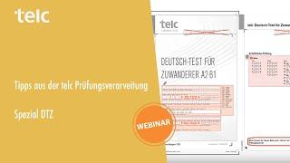 Tipps aus der telc Prüfungsverarbeitung: Spezial DTZ (Deutsch-Test für Zuwanderer A2-B1)