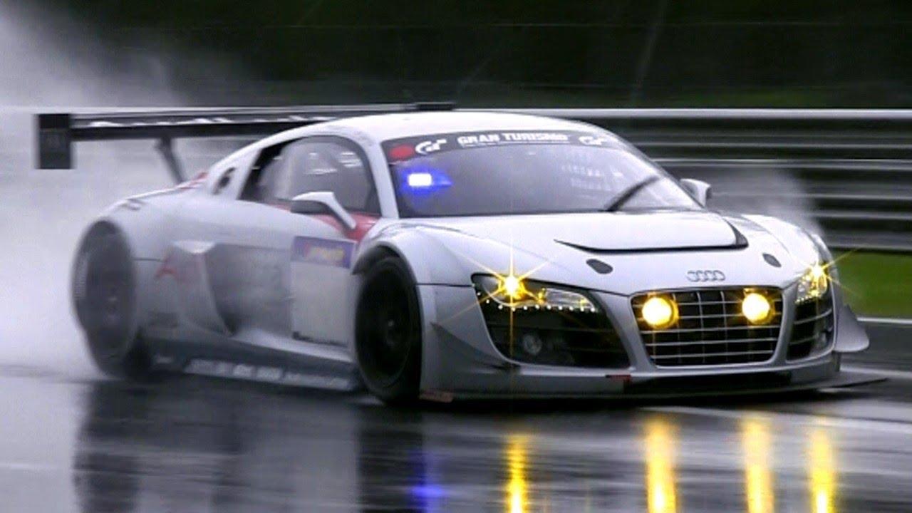 Audi R LMS Ultra GT PURE SOUND Powerslides YouTube - Audi r8 lms