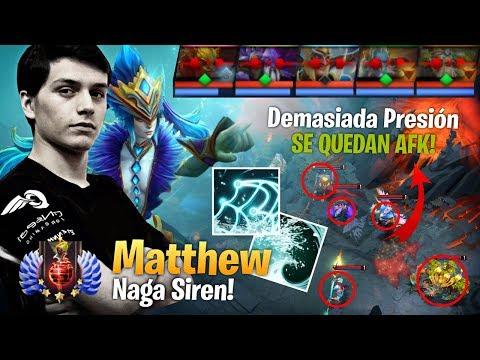 Matthew - Explosiva! Naga Siren - Presión al Limite! - Dejando al Enemigo AFK! - Dota Gameplay