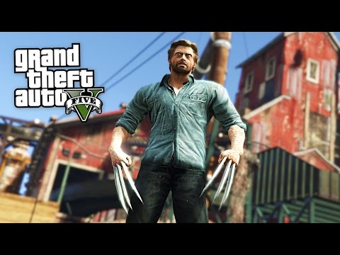 LOGAN MOVIE MOD w/ WOLVERINE CLAWS!! (GTA 5 Mods)