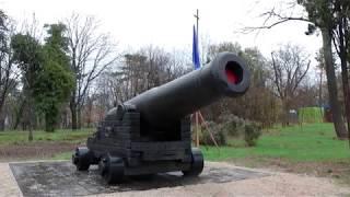 На Малаховом кургане состоялось открытие памятника - пушки времен Крымской войны