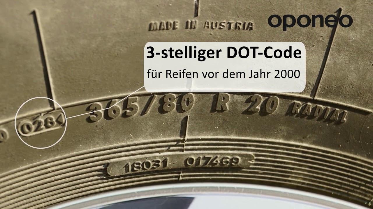 Das Reifenproduktionsdatum - Kennzeichnung DOT Ratgeber ...