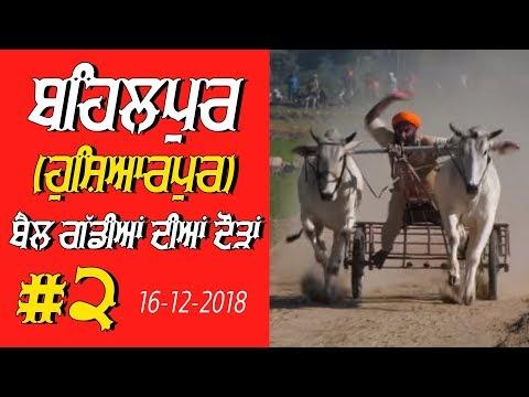OX RACES #2 🔴 ਬੈਲ ਗੱਡੀਆਂ ਦੀਆਂ ਦੌੜਾਂ बैलों की दौड़ें  بیلوں کی دودن  at BEHALPUR Hoshiarpur - 2018