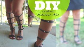 DIY sandalias Gladiadoras altas Thumbnail