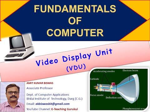 video display unit (monitor) in hindi | display device | computer fundamentals in Hindi | 2019