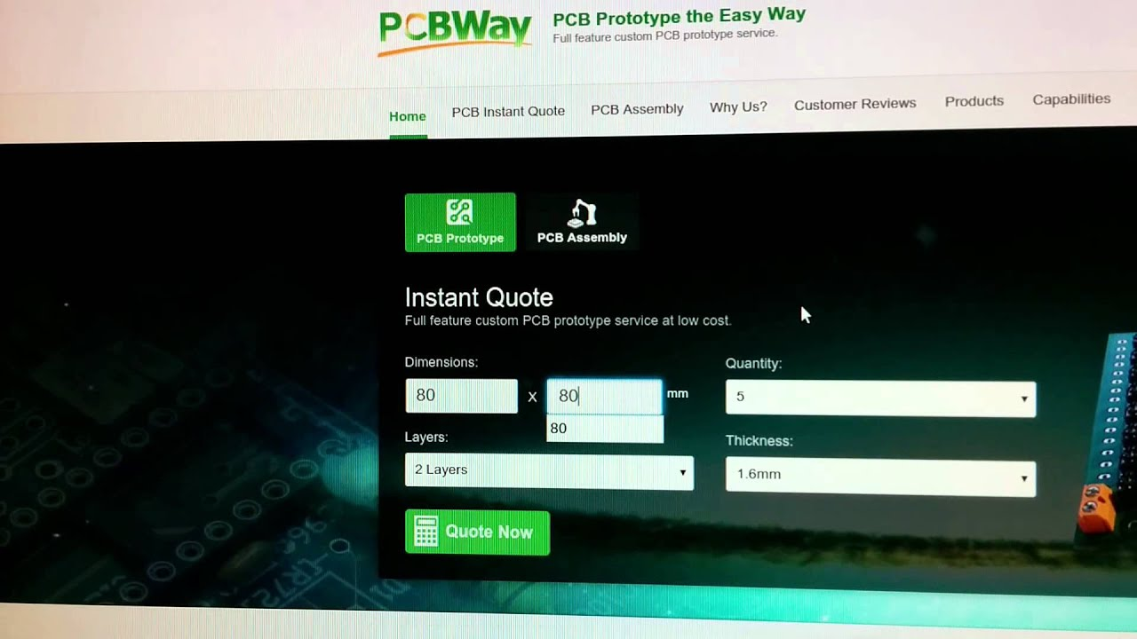 Pcb Quote Pcbway Online Quotation First Version  Youtube