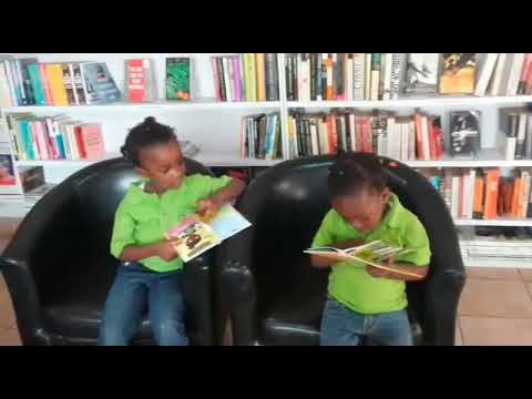 Little Children Reading in the Library