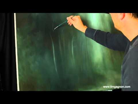 Time Lapse Forest Oil Painting The Walk Through Woods - Tim Gagnon