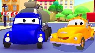 Tom la Grúa y el Camión Cisterna en Auto City | Dibujos animados para niños