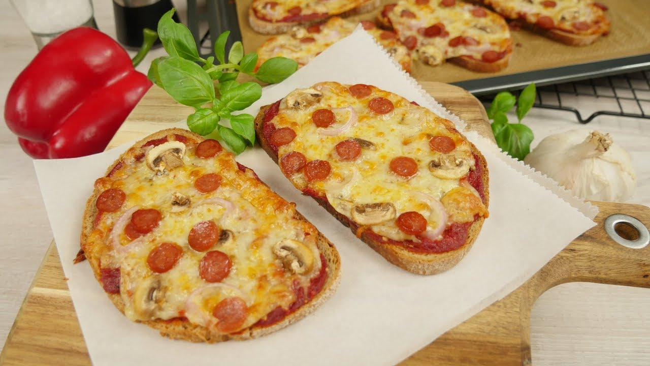 brot pizza pizzabrot mal anders