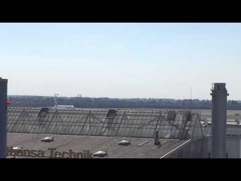 First take off of Emirates daily A380 service in Düsseldorf