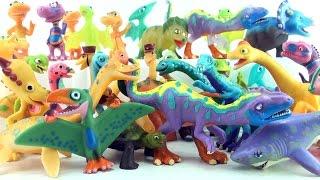 30 Dinosaur Train Dinosaurs - Dinosaur toy collection - Tyrannosaurus Triceratops Pteranodon