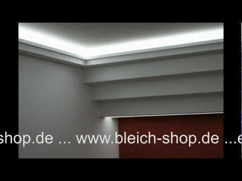 Lichtdecke mit LED  Lichtvouten mit indirekter Beleuchtung Bleich Shop GKB Lichtdecken