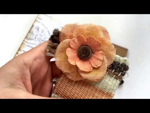 Prima DT-woven bookmark with matching flower