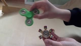 Fidget spinners!!! Gold and Green