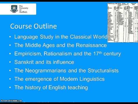 ELL329 History of Linguistics